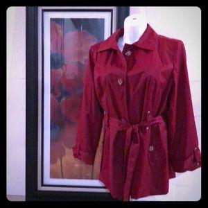 Adorable red rain jacket!